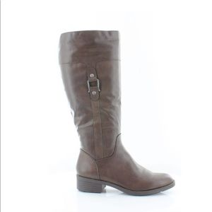 Style & Co. Vegan Faux Leather Brown Riding Boots